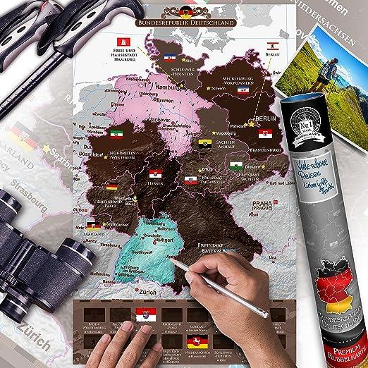 Murando Rubbel Deutschlandkarte Weltneuheit Weltkarte Zum