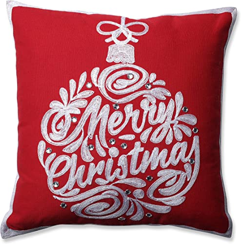 Pillow Perfect Christmas Ball Red 16.5 Throw Pillow