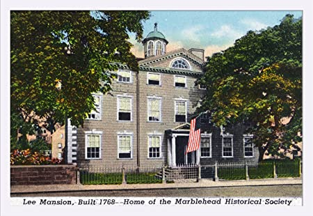 Amazon.com: Marblehead, MA - Exterior View of the Lee Mansion, Historical Society (36x24 Giclee Art Print, Gallery Framed, White Wood): Posters & Prints