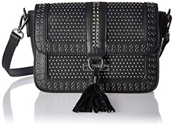 bbf2a1e70c41 Amazon.com  Nikky Crossbody Women with Flap Top Studded  Black ...