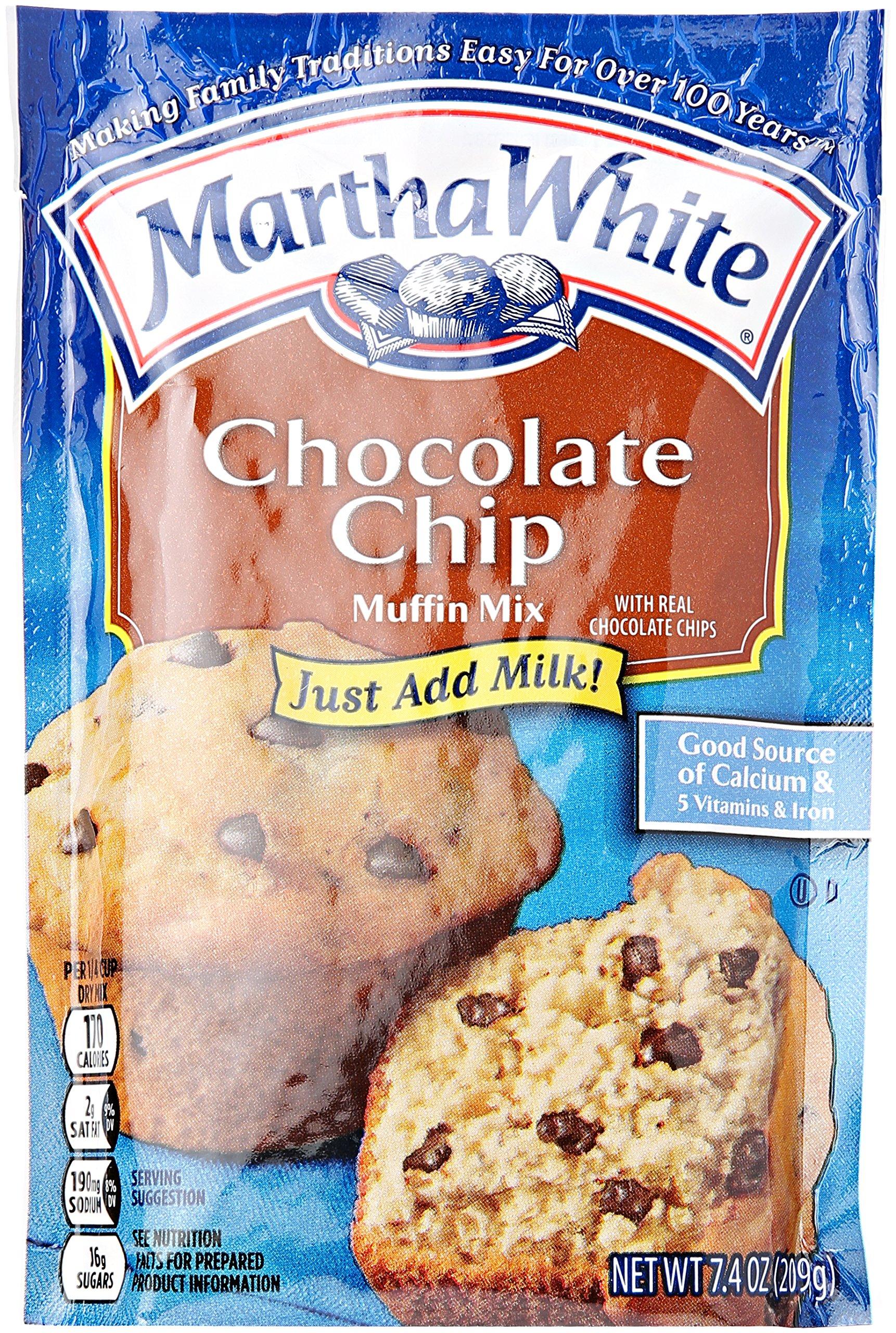 Smuckers Martha White Chocolate Chip Muffin Mix, 7.4 oz