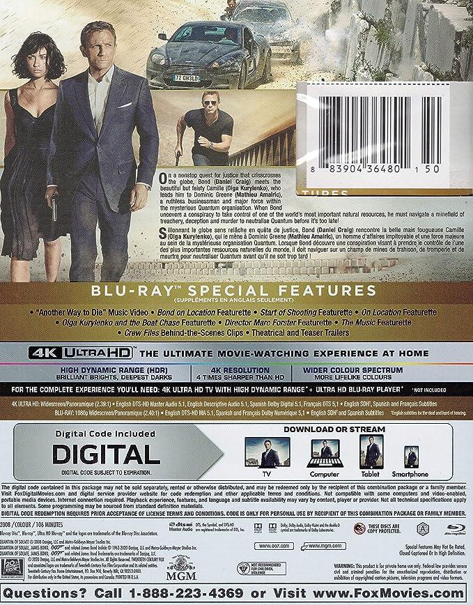 Quantum Of Solace Blu Ray Bilingual Amazon Ca Various Various Dvd