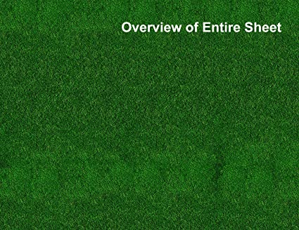 Amazon com: HO Scale Grass Model Train Scenery Sheets