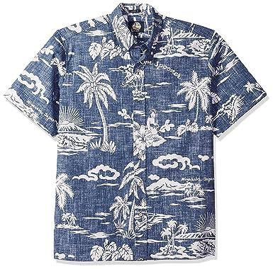 73953449 Reyn Spooner Men's My Private Isle Spooner Kloth Classic Fit Hawaiian Shirt  at Amazon Men's Clothing store: