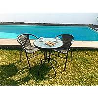 KieferGarden Gastroset Conjunto de Mesa y 2 sillas