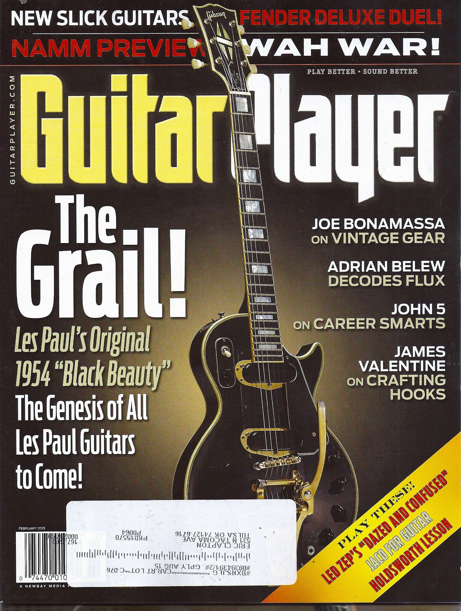 "The Grail! Les Paul's 1954 ""Black Beauty"" The Genesis of All Les Paul Guitars to Come! - February, 2015 Guitar Player Magazine ebook"