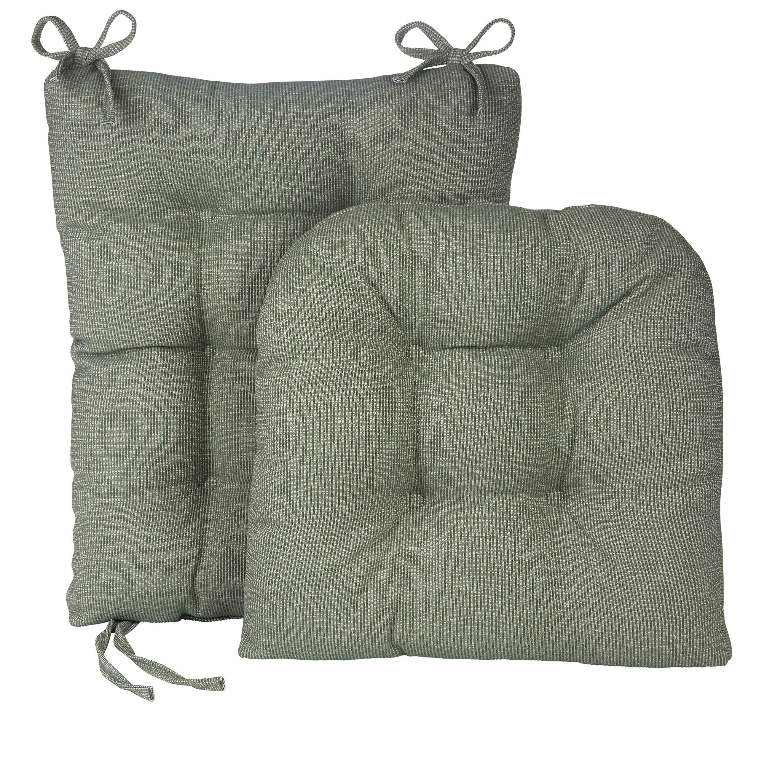 Klear Vu Gripper Jumbo Saturn Rocking Chair Cushion Set, Celadon