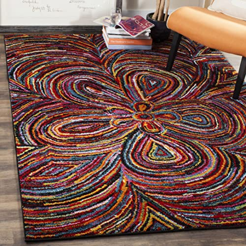 Safavieh Aruba Collection ARB503M Modern Abstract Wavy Multicolored Area Rug 8 x 10