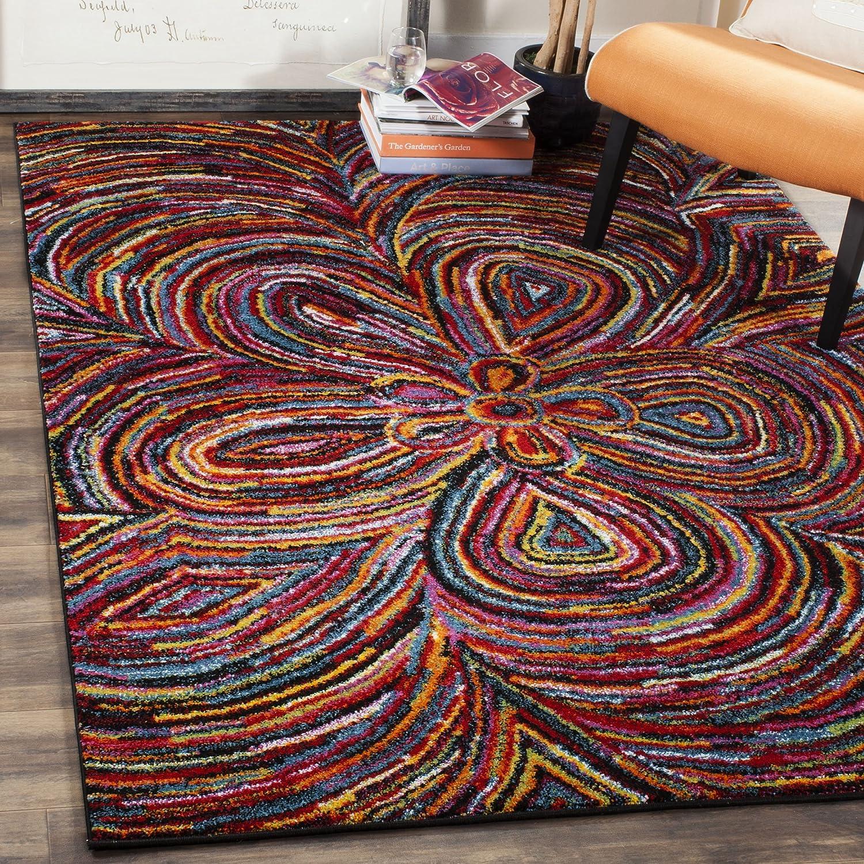Amazon.com: Safavieh Aruba Collection ARB502M Modern Abstract Floral  Multicolored Area Rug (8u0027 X 10u0027): Kitchen U0026 Dining