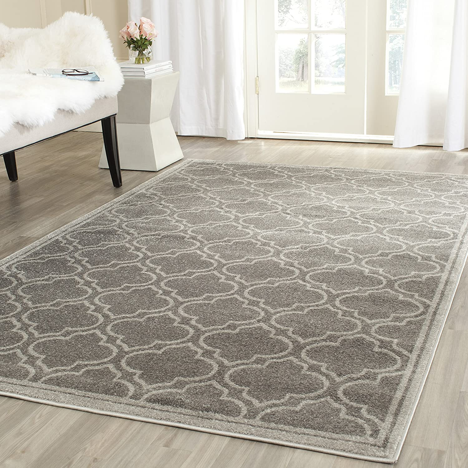 Amazon.com: Safavieh Amherst Collection AMT412C Grey And Light Grey Indoor/Outdoor  Area Rug (4u0027 X 6u0027): Kitchen U0026 Dining