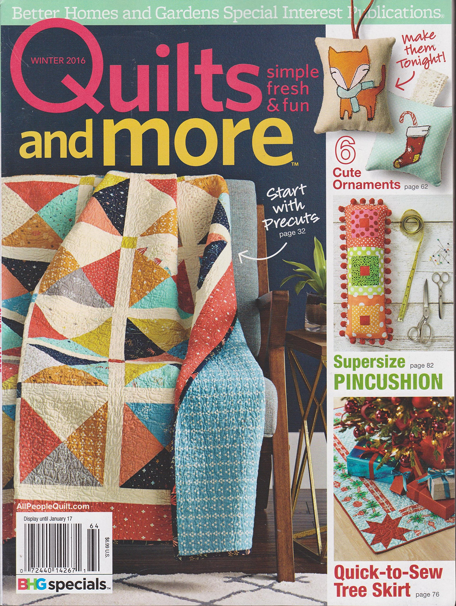 Download Better Homes and Gardens Quilts and More Magazine Winter 2016 ebook