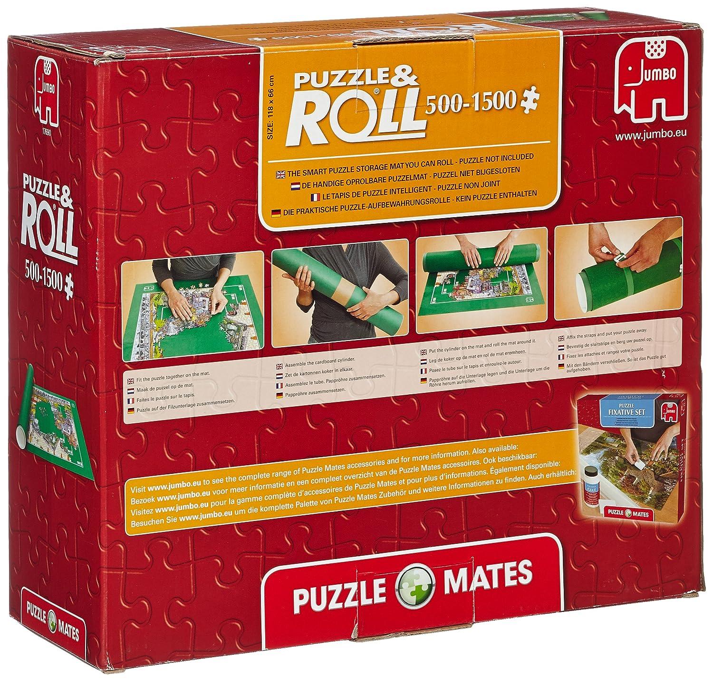 Jumbo - Puzzle y roll up, 1500 piezas, color verde (617690): Amazon.es: Juguetes y juegos
