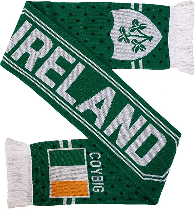 Ireland Shamrock Double Knit Rugby Scarf