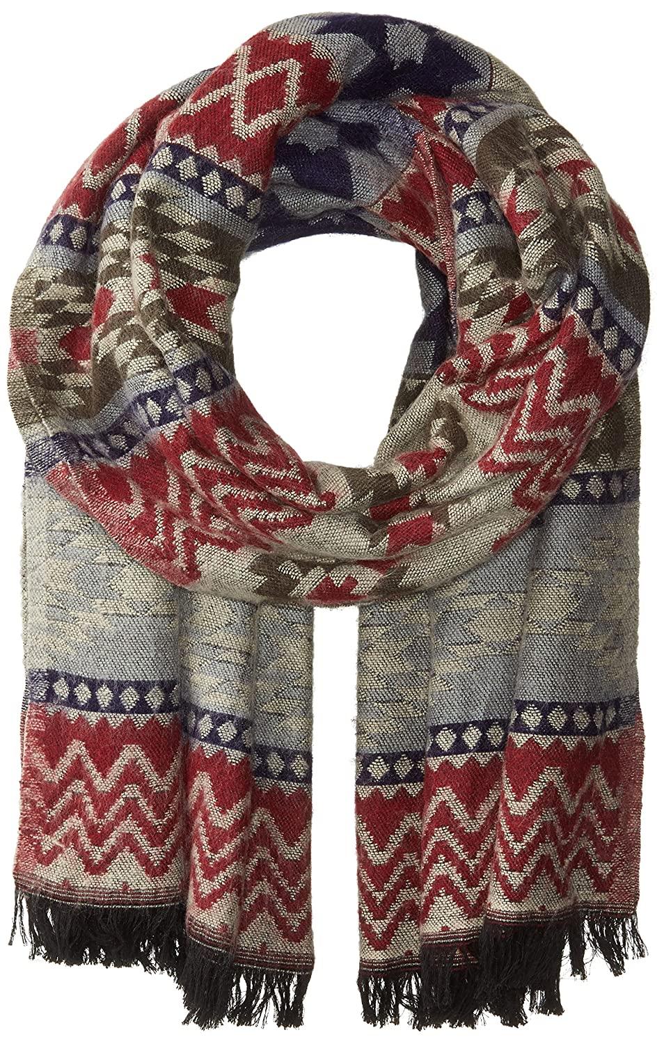 Woolrich Women's Mosaics Tapestry Wrap old red One Size Woolrich Womens Accessories Q20126