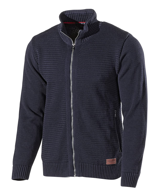 Holebrook Sweden Mens Arnold Zip Cotton Cardigan/Jumper/Jacket Top, Navy Blue, Medium