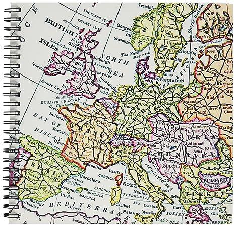Map Of Western France.3drose Db 112938 1 Vintage European Map Of Western Europe Britain Uk
