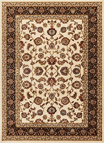 Well Woven Barclay Sarouk Ivory Traditional Area Rug 5 3 X 7 3
