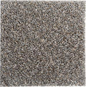 """Smart Squares in A Snap 9"""" x 9"""" Residential Soft Carpet Tile, Peel and Stick, Easy DIY Installation, Seamless Appearance, Made in USA (Sample, 388 Stonehenge)"""
