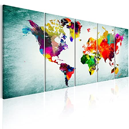 Murando world map canvas wall art b 225x90 cm amazon murando world map canvas wall art b 225x90 cm gumiabroncs Gallery
