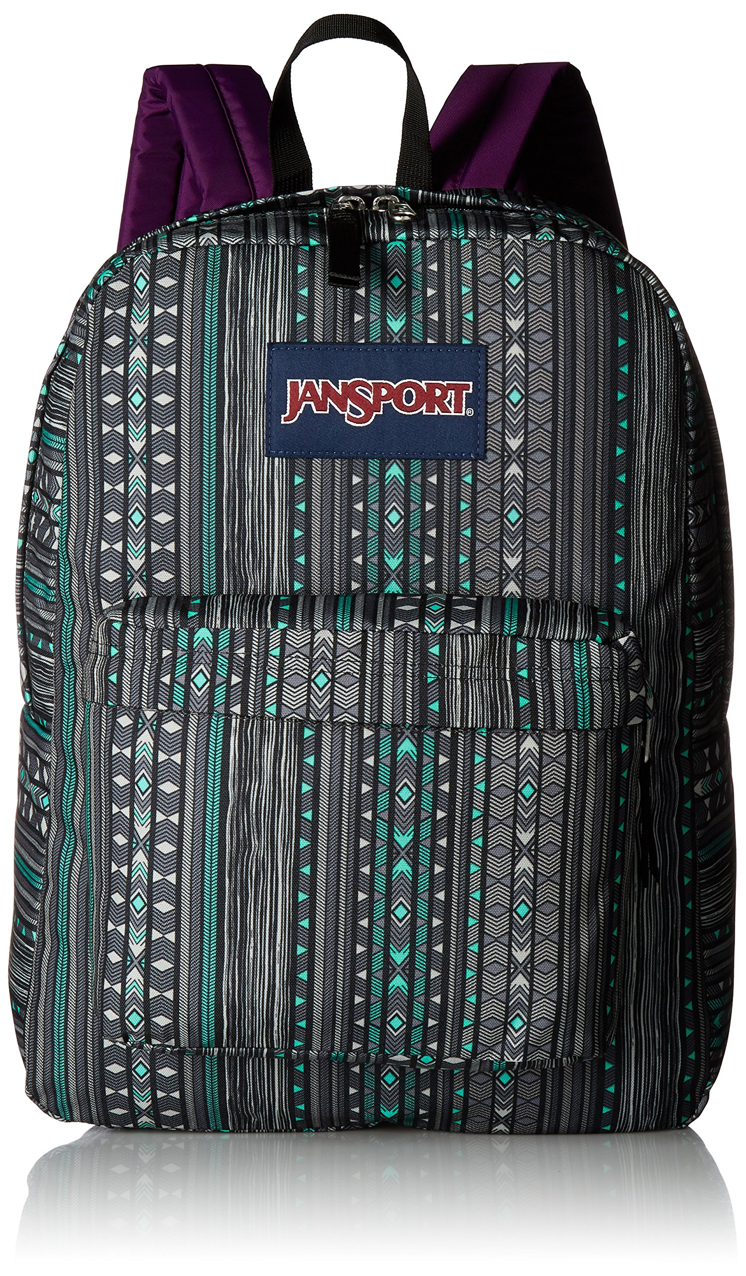 JanSport Superbreak Back Pack Seafoam Green Camo Stripe One Size by JanSport