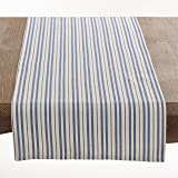 "Fennco Styles Cotton Dauphine Collection Striped Design Table Runner - 16"" X 72"""