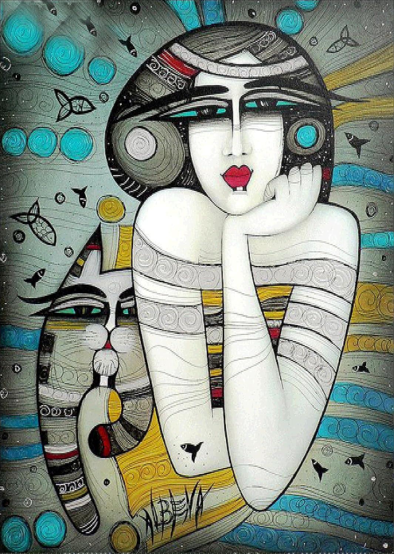 Gato de mujer de India antigua 40x30cm Crystal Full Diamond Rhinestone pintura por n/úmero Kit Decoraci/ón del hogar de punto de cruz bordado Craft DIY 5D Diamante Pintura