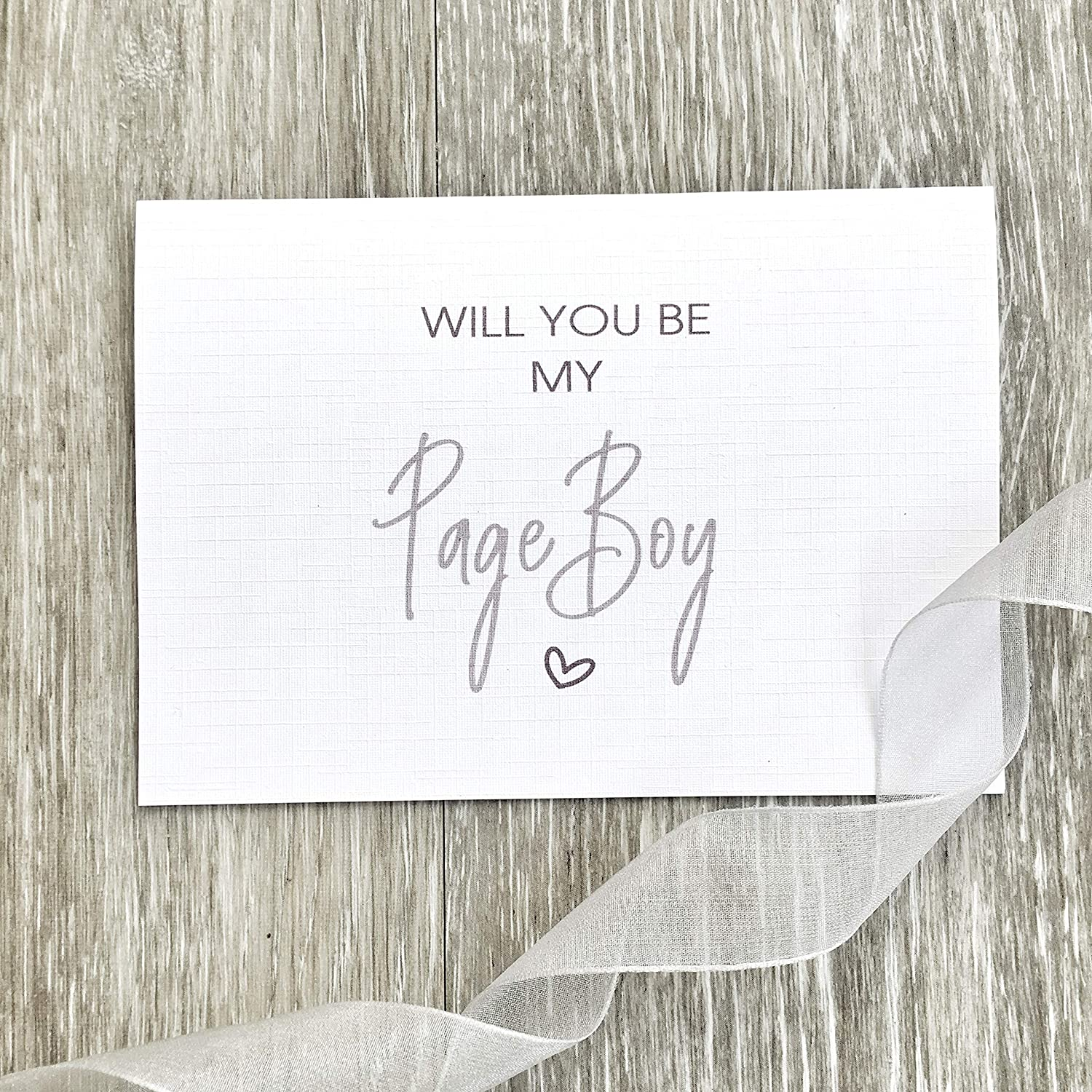 Will You Be Range of Cards Will You Be My Page Boy