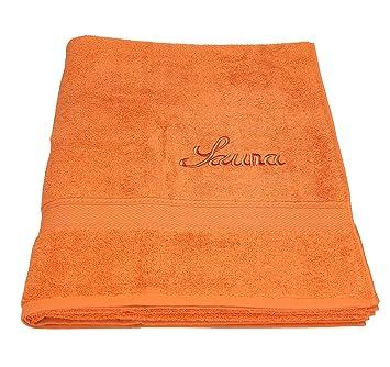 664503f4f5 Betz Saunatuch Saunahandtuch Saunatücher France 100% Baumwolle Größe 80x200 cm  Farbe orange