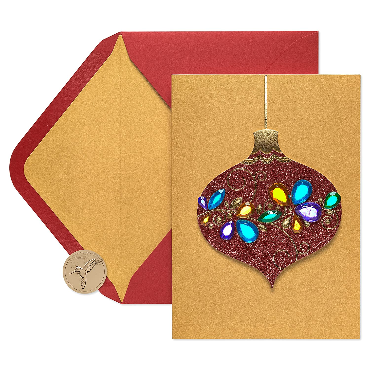 Amazon.com: Papyrus Gem Ornament Boxed Holiday Cards, 8-Count ...