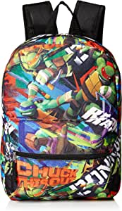 """Nickelodeon Boys' Tmnt Chuck This Out 16"""" Backpack"""