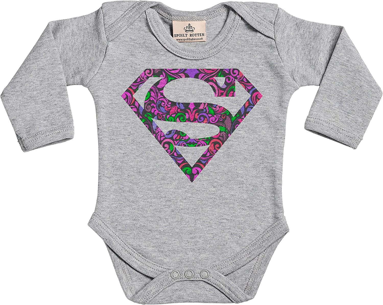V/êtements b/éb/é Spoilt Rotten Supergirl Super Baby Design Body b/éb/é Coffrets Cadeaux pour Coton Bio