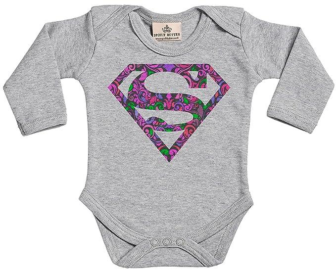 Amazon.com: Supergirl diseño de Super Baby para bebé Grow ...