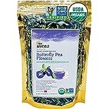 Incas 100% USDA Organic Butterfly Pea Flower Tea 4.41 oz (125 g) Non GMO Verified Dried Butterfly Pea Flowers Caffeine Free G