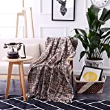 "Luxurious Knitted Throw Blanket Very Cosy Super Soft -60"" x 50"" (Multi-Colored) by Exclusivo Mezcla"