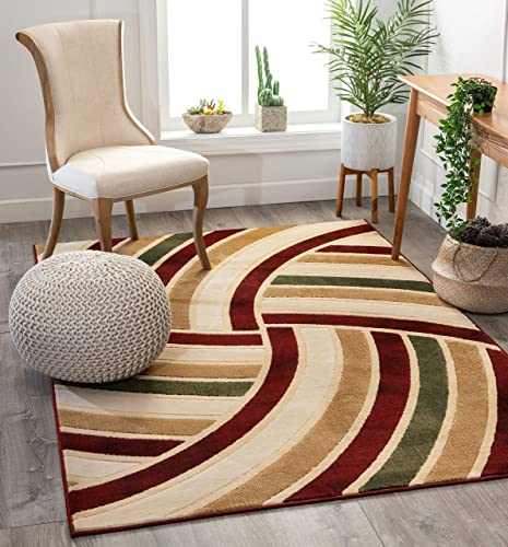 Well Woven Volley Multi-Color Geometric Circles Modern Area Rug 8×10 7 10 x9 10