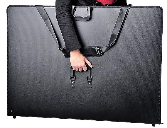 28 x 38 x 5,0 cm artdee Zeichenkoffer//Transportmappe aus Kunststoff mit Griff