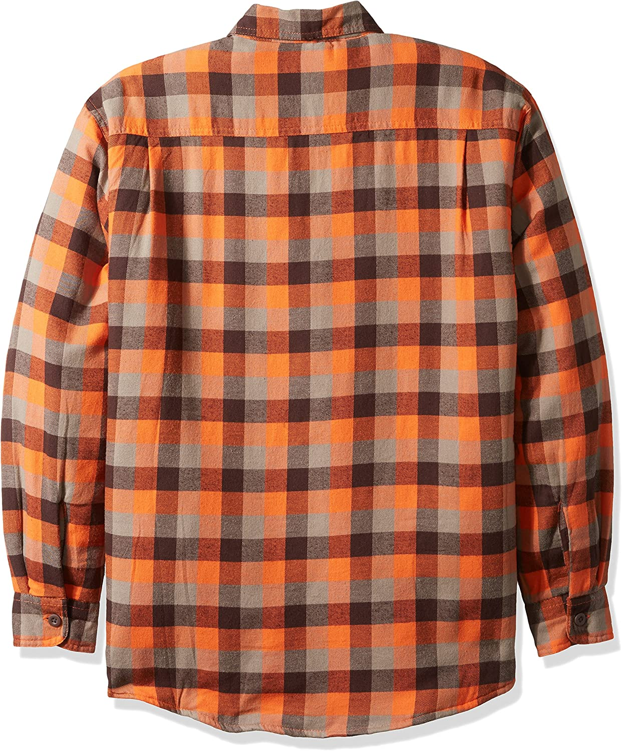 Wrangler Mens Authentics Long Sleeve Quilted Lined Flannel Shirt Button Down Shirt