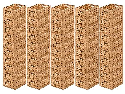 50 STK fruta caja – Almacenamiento caja madera diseño manzana caja 400 x 300 x 165 mm invitados Lando: Amazon.es: Industria, empresas y ciencia