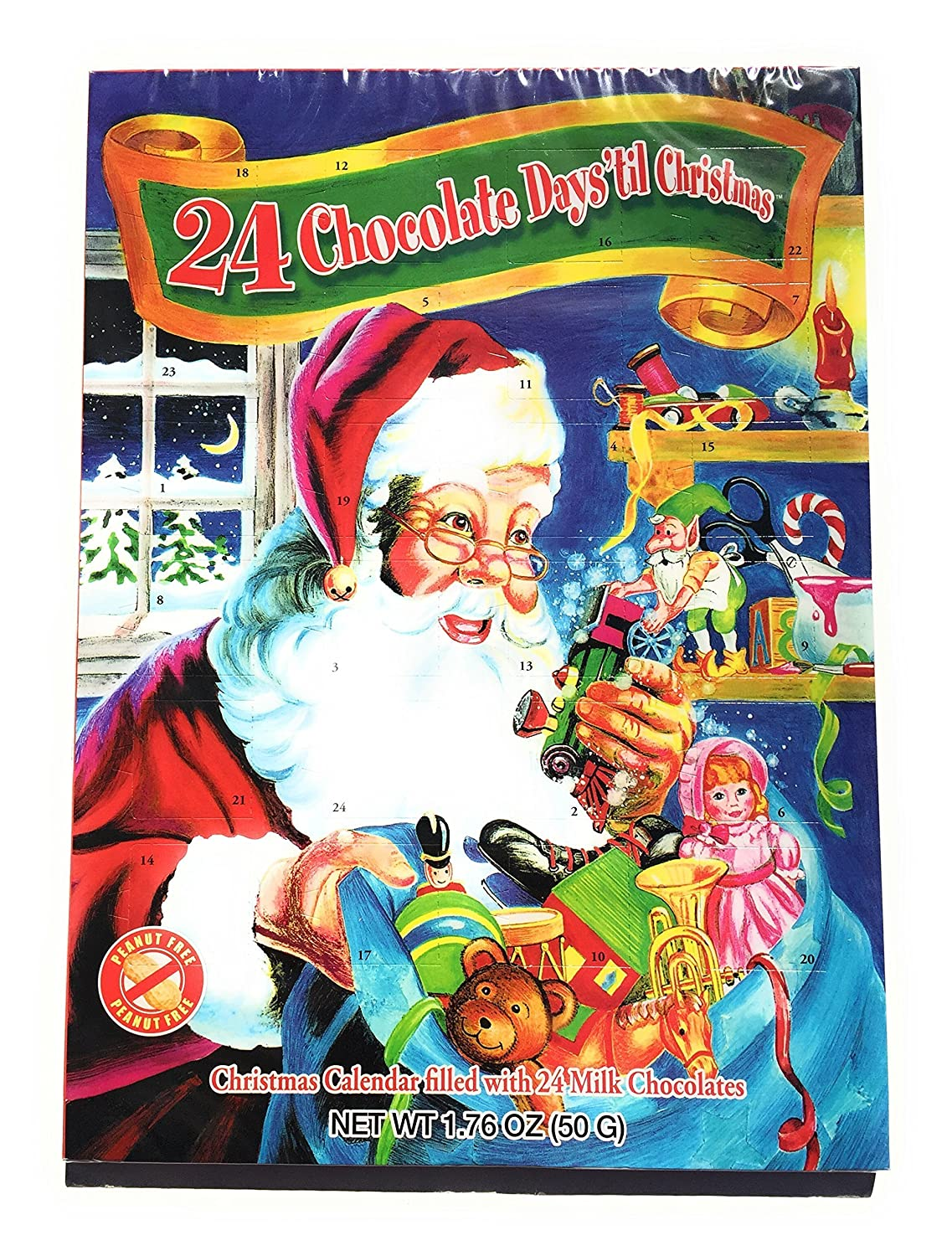 Alberts Advent Calender 24 Chocolates 1.76 oz Set of 3 Jean-Talon Chocolate