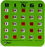 Regal Games Green Fingertip Shutter Slide Bingo Cards