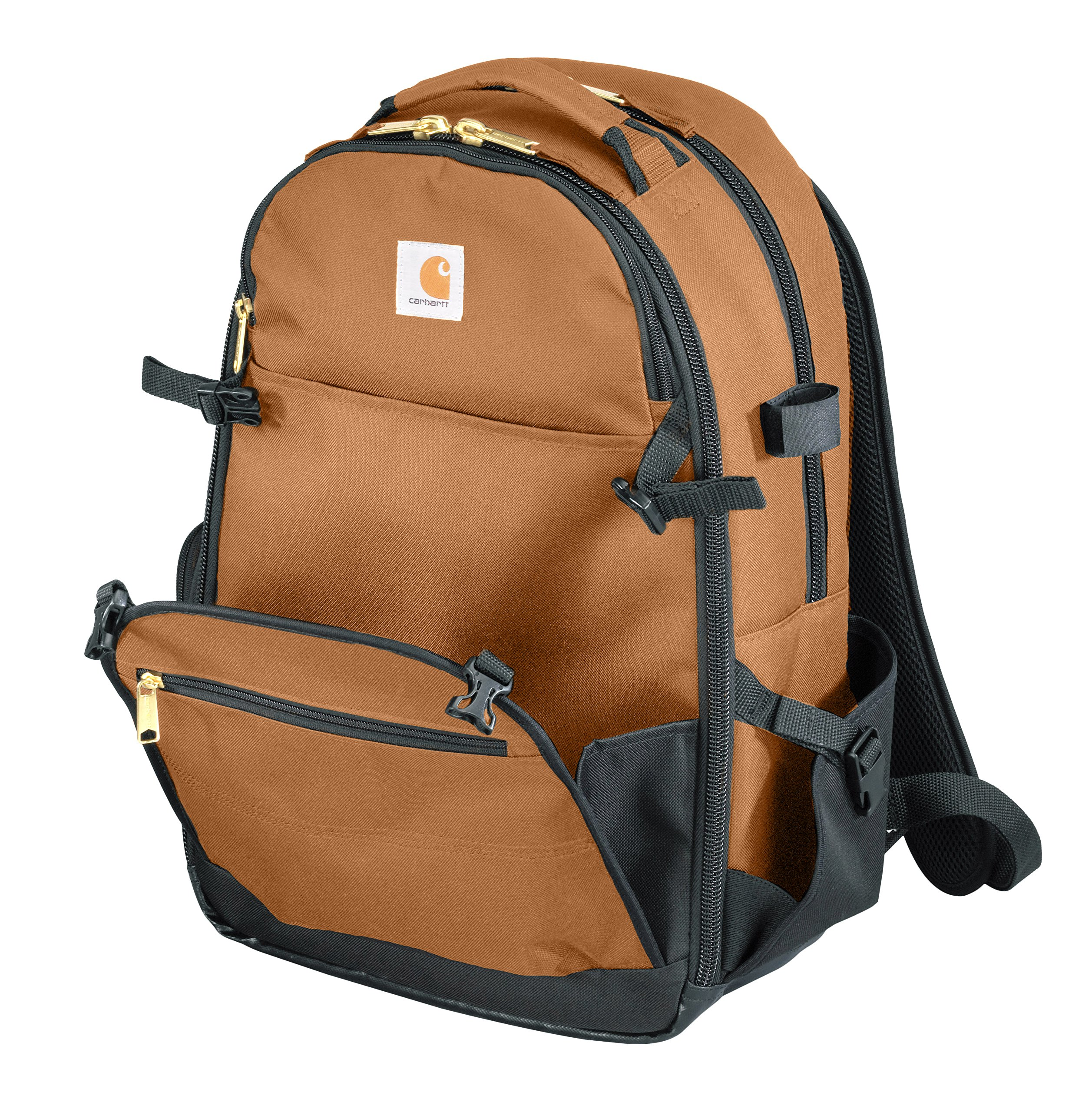 0cdb70a090 Details about Carhartt Legacy Expandable-Front Tool Backpack, Carhartt Brown