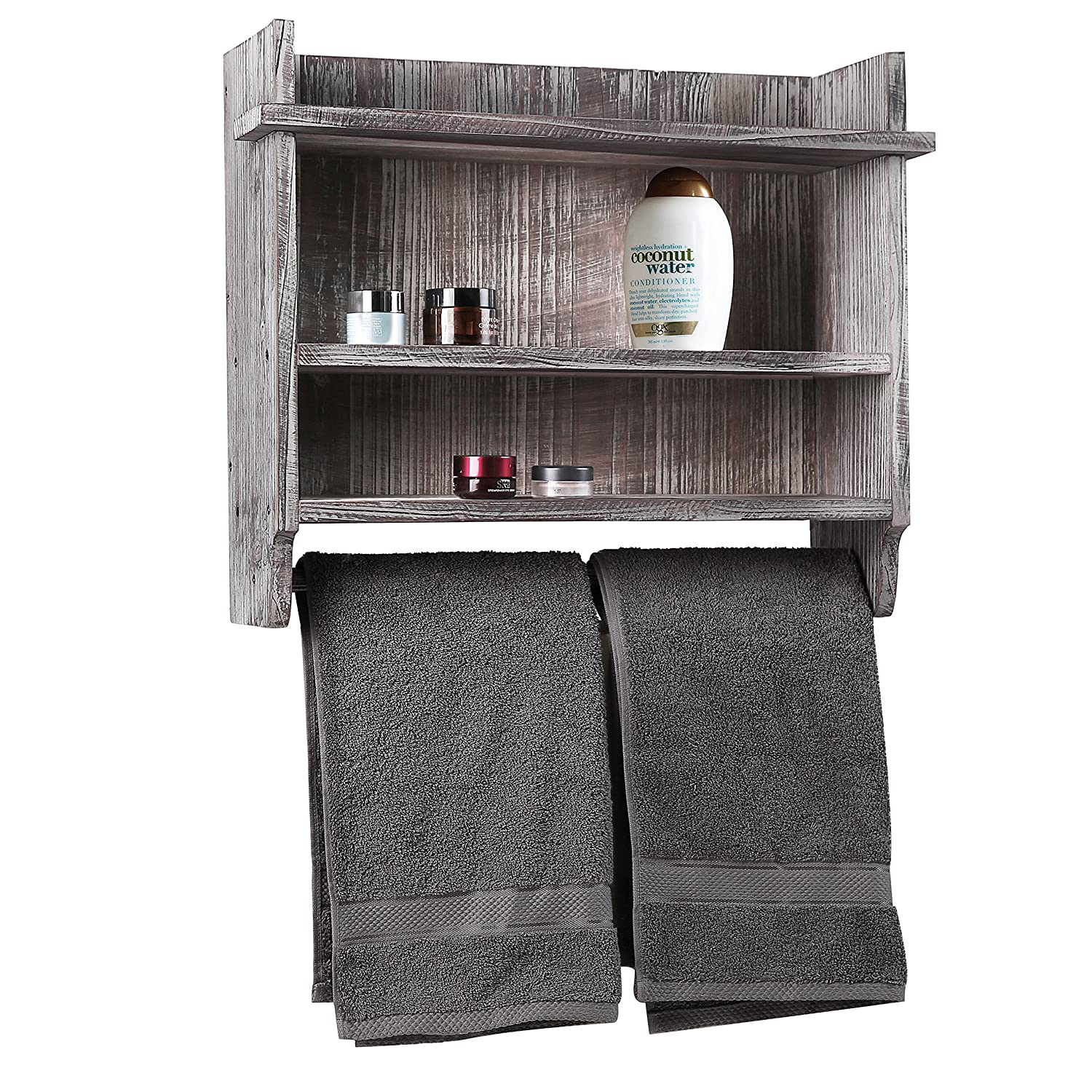 Bathroom Organizer Rack Hanging Towel Bar 3 Storage