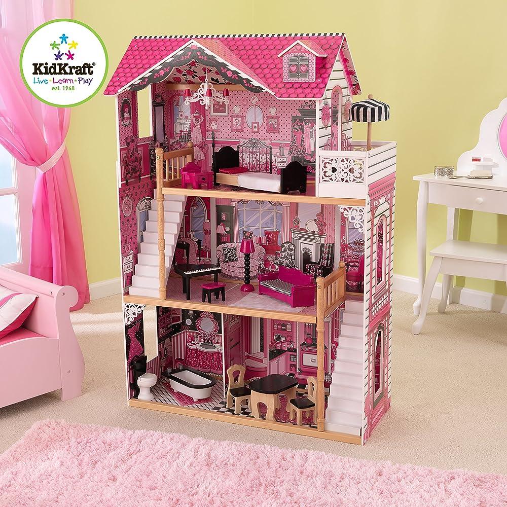 Kidkraft 65093 amelia casa delle bambole in legno con for Amazon casa