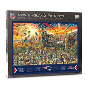 NFL New England Patriots Joe Journeyman Puzzle - 500-piece