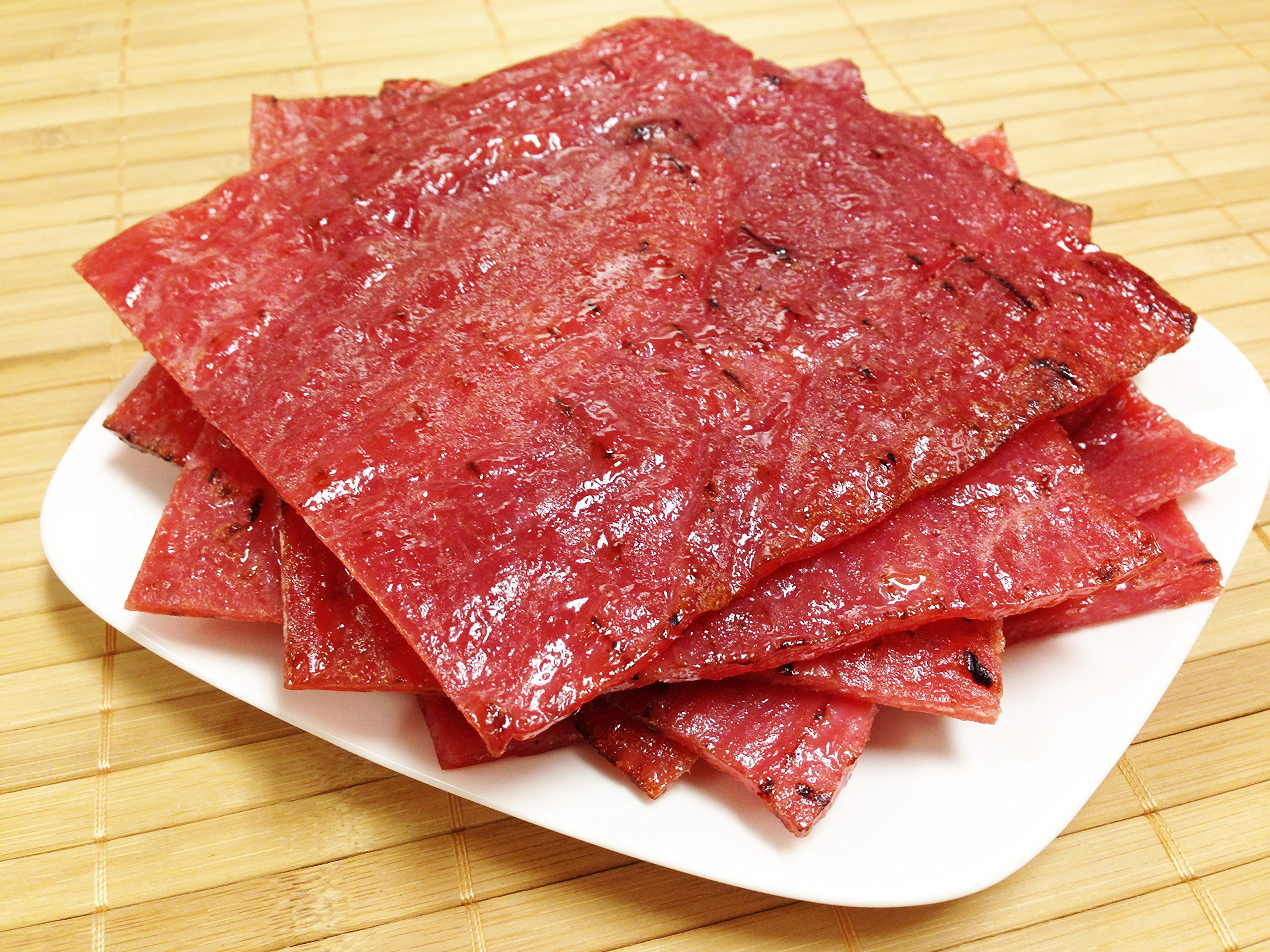 "Made to Order Fire-Grilled Asian Pork Jerky (Original Flavor - 8 Ounce) aka Singapore Bak Kwa - Los Angeles Times ""Handmade Gift"" Winner"