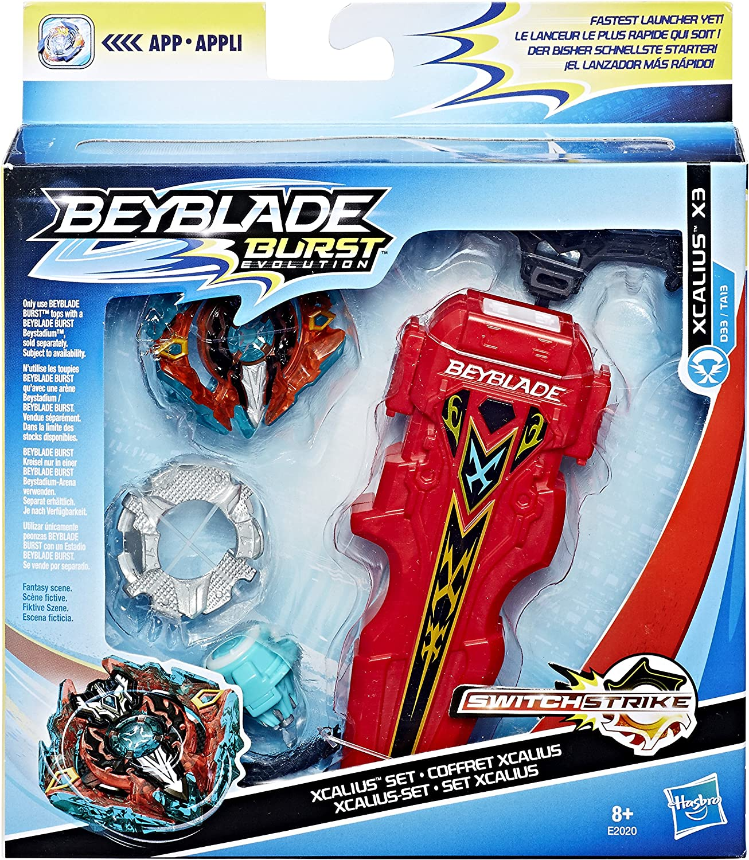 BEYBLADE BURST Evolution Deluxe SWITCHSTRIKE XCALIUS X3 SET D33//TA13 Hasbro~NEW