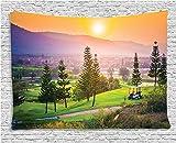 Ambesonne Farm House Decor Tapestry, Vibrant Golf