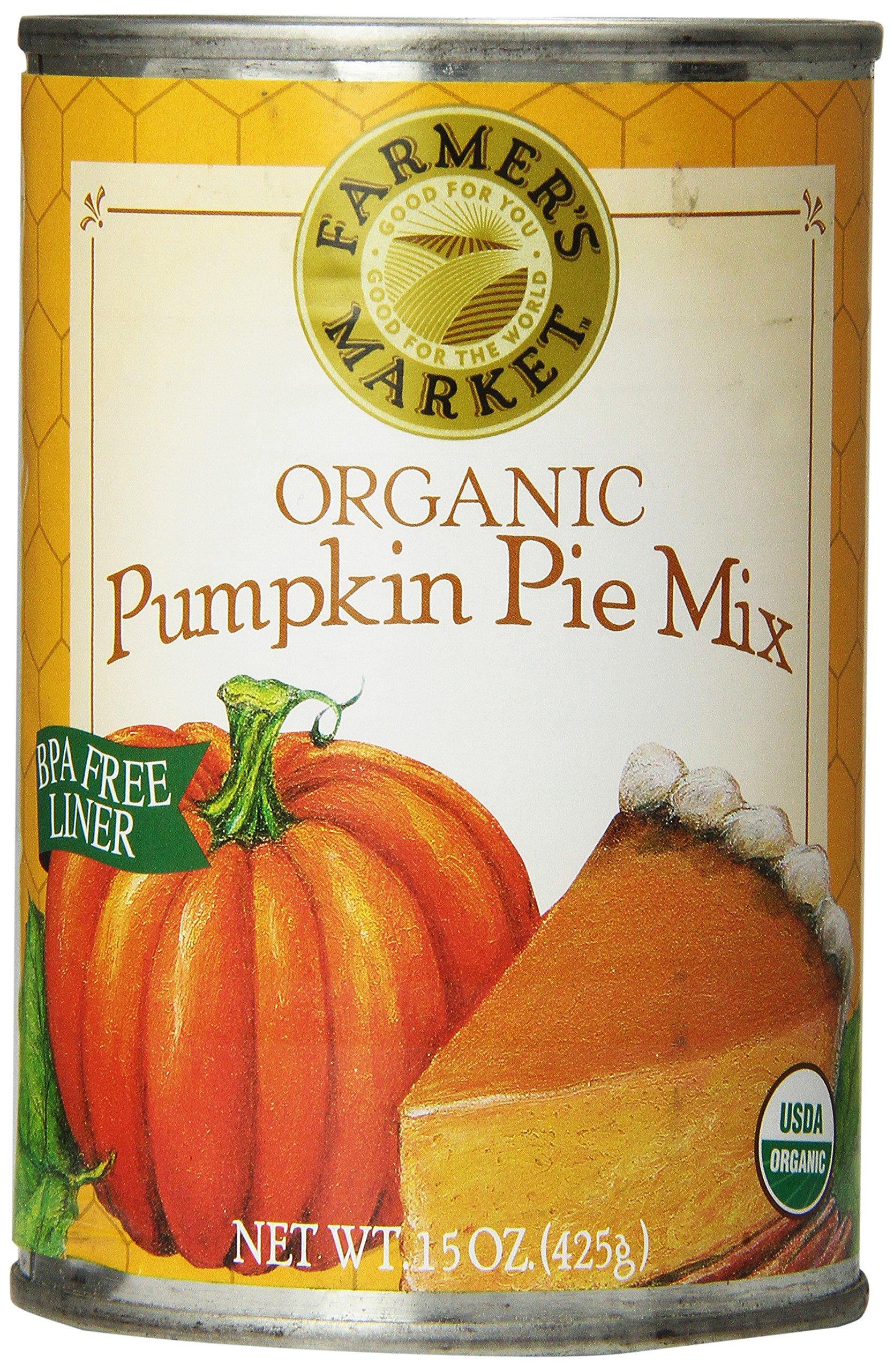 Farmer's Market Foods, Organic Canned Pumpkin Pie Mix, 15 oz
