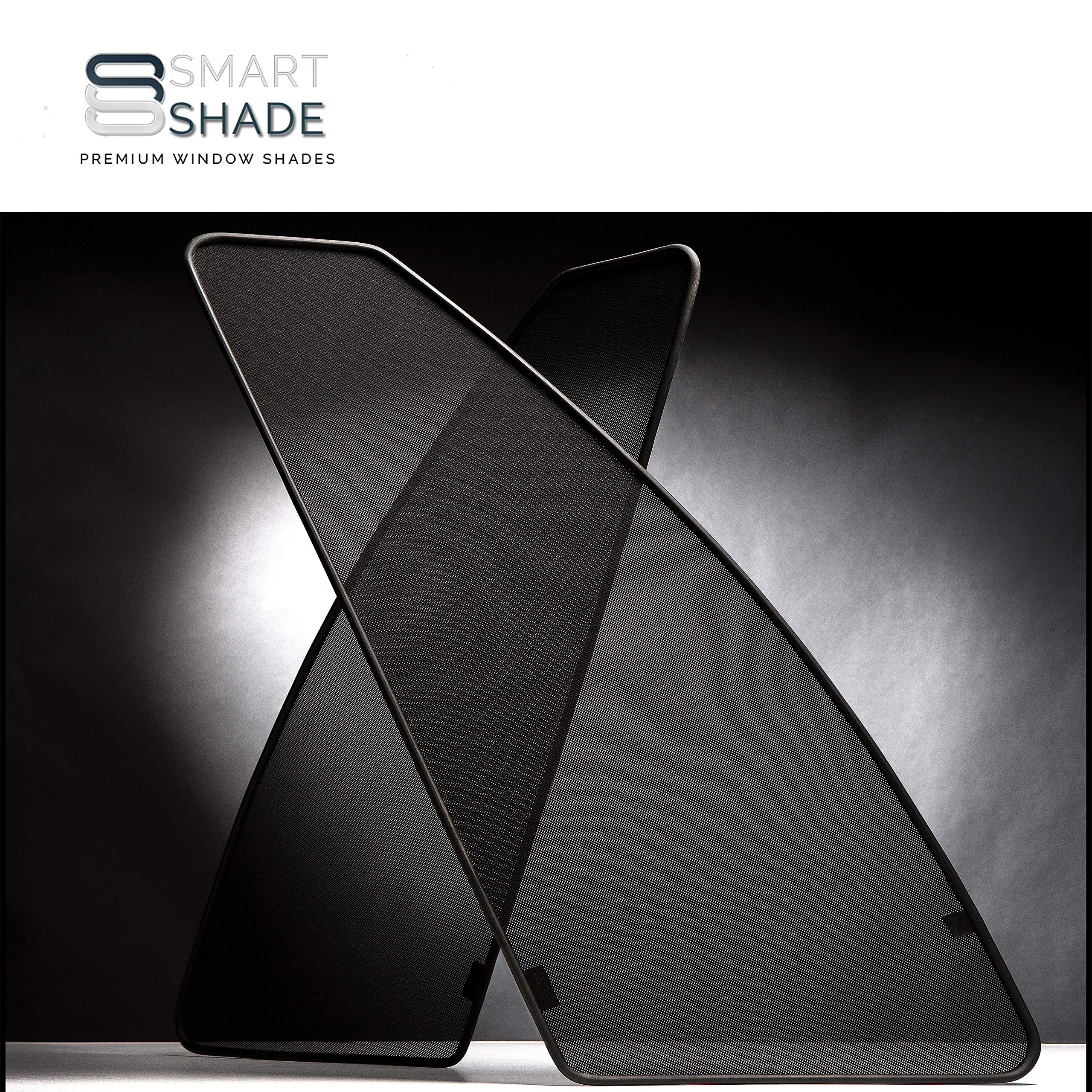 Smartshade - Nissan Sentra 2012 2018 (BACK) Flawless Magnetic Custom-Tailored Window Shades - UVA/UVB Rays Protection by SMARTSHADE