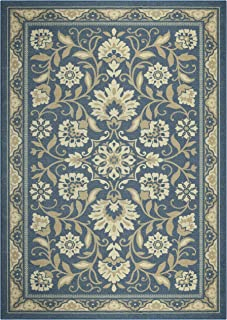 product image for Maples Rugs Florence Area Rugs for Living Room & Bedroom [Made in USA], 5 x 7, Blue